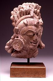Indian - Head of Shiva in form of Bhairava - Walters 25261 - Three Quarter
