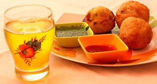 Batata vada Indian vegetarian fast food from Maharashtra