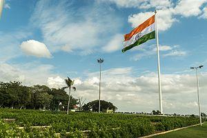 Sanjeevaiah Park - Indian flag in Sanjeeviah park