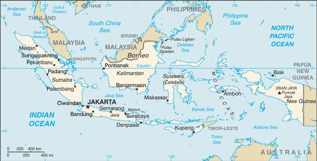 Indonesia-CIA WFB Map