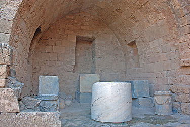 Inscribed blocks in acropolis of Lindos 2010.jpg