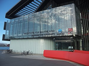 Institute for Marine and Antarctic Studies - IMAS building on Castray Esplanade, Hobart.