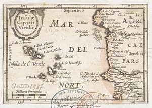 Cape Verde - Insulae Capitis Viridis (1598), showing Cape Verde