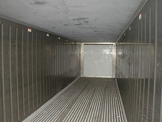 Refrigerated container - Inside of a refrigerated container
