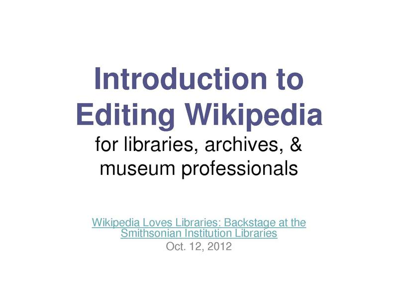 File:Introduction-to-Editing-Wikipedia-for-GLAM-professionals.pdf
