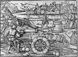 Invention of artillery by a German monk, 1378. Wellcome L0005343.jpg