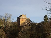 Inverquharity Castle bathed in winter sunshine - geograph.org.uk - 650127.jpg