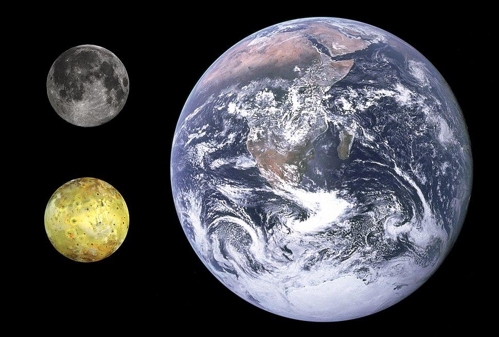 Io, Earth & Moon size comparison