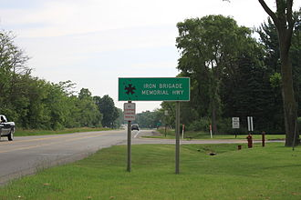 U.S. Route 12 in Michigan - Iron Brigade Memorial Highway sign, Pittsfield Township