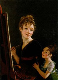 Isabelle Pinson - Self-Portrait at an Easel and With a Young Girl.jpg