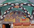 Issogne Castello d'Issogne Innenhof Fresken 04.jpg