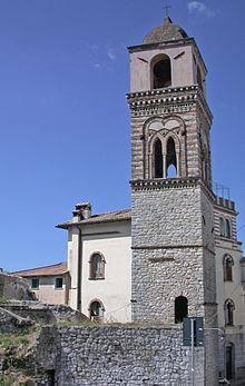 il campanile della distrutta chiesa di Santa Maria Maggiore