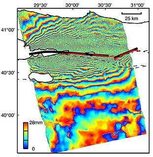 Interferometric synthetic-aperture radar radar technique used in geodesy and remote sensing