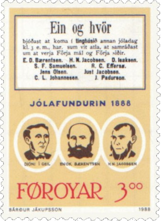 Christmas Meeting of 1888 - 3.00 kr stamp