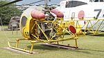 JMSDF Kawasaki Bell 47G-2A(8753) fuselage section left rear view at Kanoya Naval Air Base Museum April 29, 2017.jpg