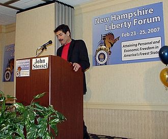 John Stossel - Stossel speaking at the Free State Project's New Hampshire Liberty Forum in 2007