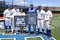 Jacob DeVries and Air Force baseball coaching staff in 2017.jpg