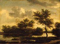 Jacob van Ruisdael - River Landscape - Pushkin Museum.jpg
