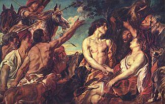 «Μελέαγρος και Αταλάντη», ζωγραφικός πίνακας του Jacob Jordaens, περ. 1600-1650.