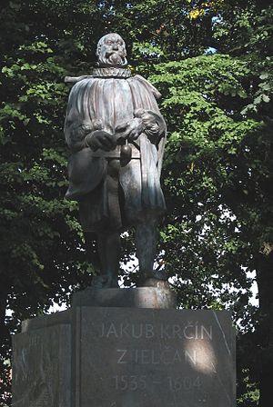 Jakub Krčín - Statue of Jakub Krčín in Třeboň