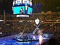 James Neal entrance at the 2016 NHL All-Star Game (24751632146).jpg