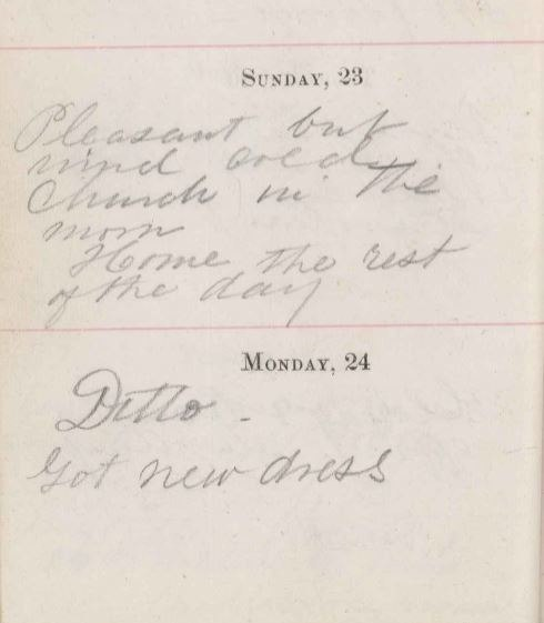 Jane Foster diary