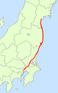 Japanese road from Tokyo to Sendai.