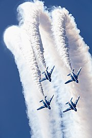 Japan air self defense force Kawasaki T-4 Blue Impulse RJNK Change Over Loop.JPG