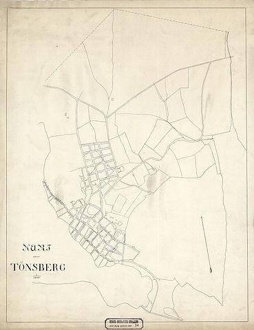 File Jarlsberg Og Larviks Amt Nr 36 Kart Over Tonsberg 1870 Jpg