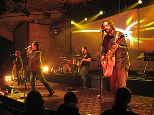 Christian rock - Jars of Clay in concert, 2007.
