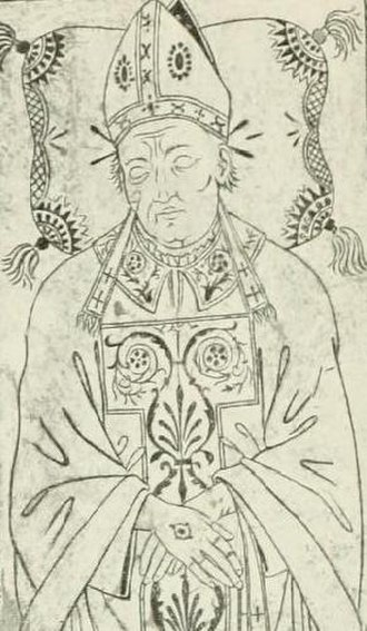 Jean Bilhères de Lagraulas - Line drawing of the effigy of Jean Bilhères de Lagraulas, from his tomb in St. Peter's Basilica.