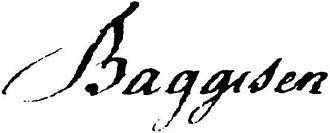 Jens Baggesen - Image: Jens Baggesen signature