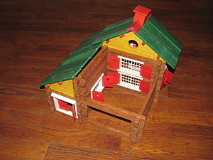 Construction set - Jeujura wooden construction set (Swiss chalet)