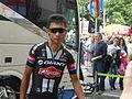 Ji Cheng alla partenza di una tappa del Giro d'Italia 2015.JPG