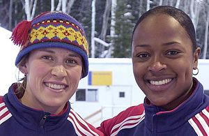 Bobsleigh at the 2002 Winter Olympics - Bakken (left) and Flowers