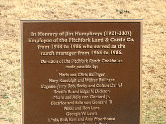 Jim Humphreys - Historical marker at National Ranching Heritage Center in Lubbock, Texas, commemorates Humphries's contributions to historical preservation.