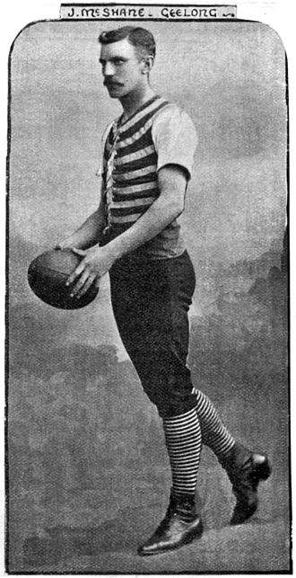 Geelong Football Club - Club attire in 1895 (Jim McShane pictured)