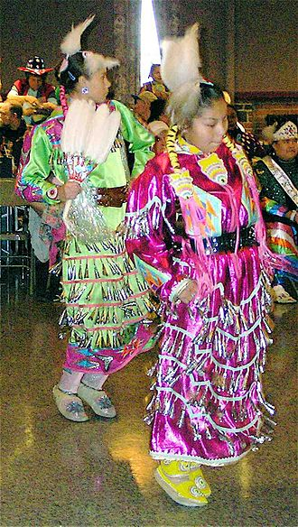 Pow wow - Girls in jingle dress competition