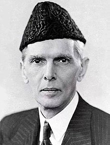 A view of Jinnah's face late in life