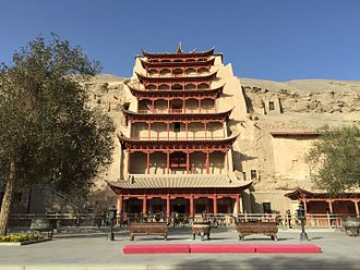 Hinduism in China - In Mogao Caves, Dunhuang, Gansu, along with Buddhist arts, numerous arts of Hindu deities have also been found. For example, in cave no. 285, there is grotto of Hindu deity Ganesha, suggested to be from 6th century AD.