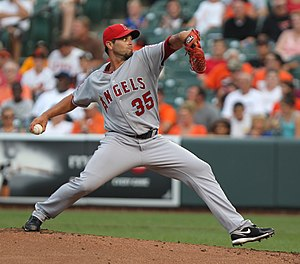 Joel Piñeiro - Piñeiro pitching for the Angels in 2011.