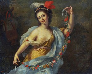 The Muse Terpsichore (the nine muses, 1782)