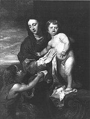 Madonna mit Kind und Johannesknaben (nach van Dyck)
