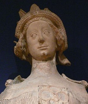 Joanna of Pfirt - Statue of Joanna in Saint Stephen's Cathedral, Vienna