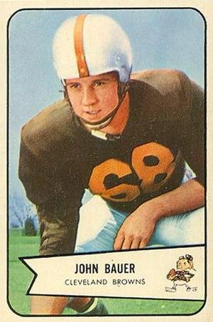 John Bauer (American football) - Bauer on a 1954 Bowman football card