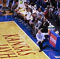 John Beilein and Michigan bench in 2009 at Kansas.jpg