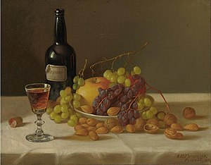 John F. Francis - Still life, fruit and wine glass.jpg
