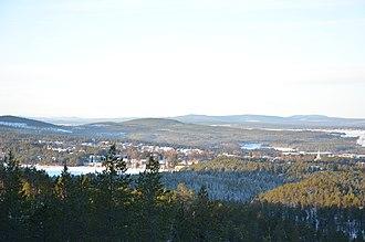 Norrland terrain - Image: Jokkmokk utsikt från Storknabben