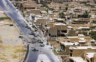 2003 Jordanian embassy bombing in Baghdad - Image: Jordanian Embassy in Baghdad after an exploded car bomb