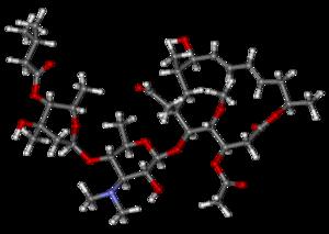 Josamycin - Image: Josamycin ball and stick